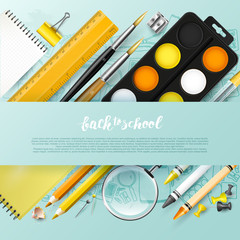 Back to school design template