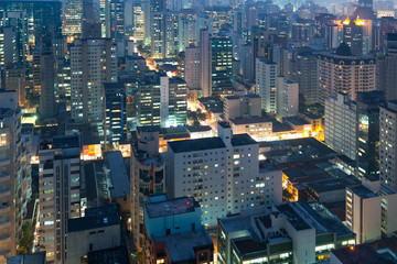 Panoramic view of Sao Paulo, Brazil, South America