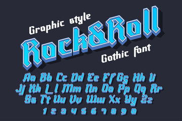RocknRoll - decorative font with graphic style