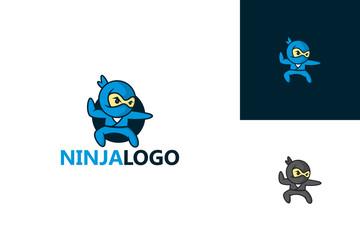 Ninja Logo Character  Template Design Vector, Emblem, Design Concept, Creative Symbol, Icon