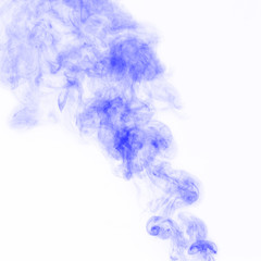 Violet Smoke on white background