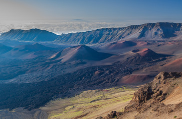 Scenic Haleakala Volcano Crater on the Island of Maui