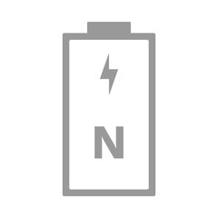 N battery. R1 cell size. Vector icon.