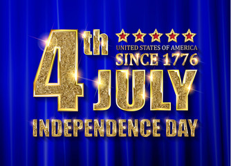 4th of July independence Day banner