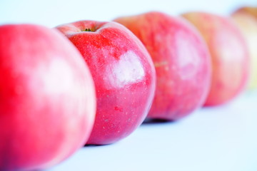 The red Apples, fruits, fresh.