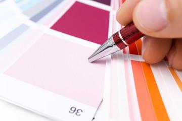 Farbkarte mit Farbauswahl