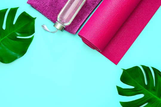Yoga or fitness summer background