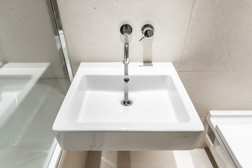 modern square shape hand wash basin