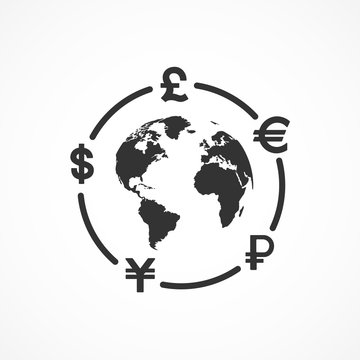 Vector image of currency exchange icon.
