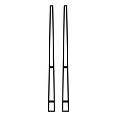 Chinese chopsticks icon black color illustration flat style simple image