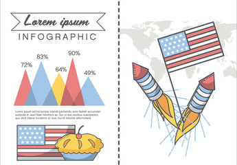 American Summer Holiday Presentation Graphics