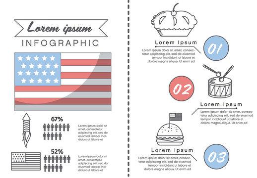 American Summer Holiday Presentation Graphics