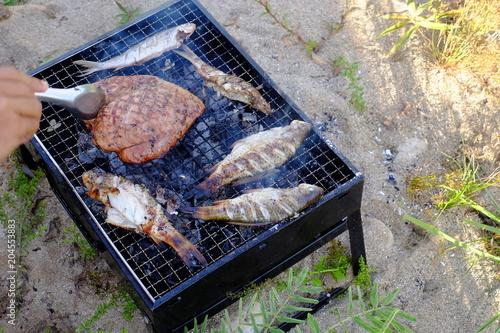 Fish from the stream near the forest in Sangklaburi, Kanchanaburi