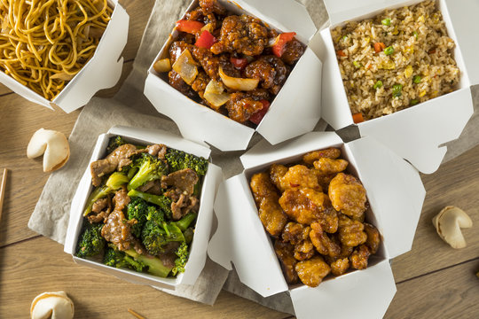 Spicy Chinese Take Out Food