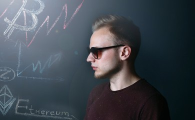 blonde businessman investor, crypto currency bitcoin etherium, Zcash (ZEC)