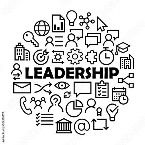 Leadership Symbols In Circle Stock Image And Royalty Free Vector