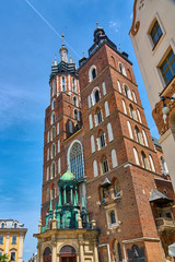 St. Mary's catholic church Bazylika Mariacka in Krakow, Poland