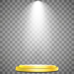Wall Mural - Vector spotlight, podium. Light effect