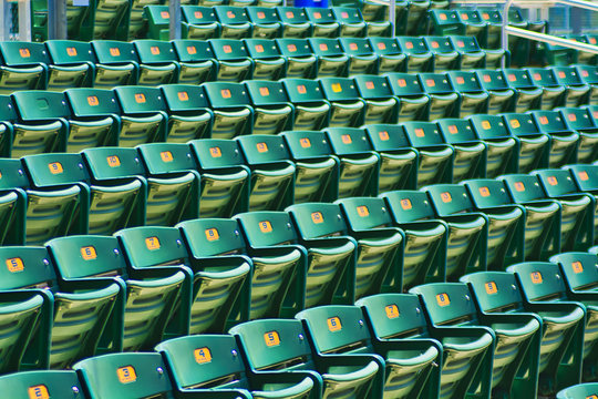 Social Distancing - Empty Sports Stadium Seating - Year of the Pandemic - Abstraction