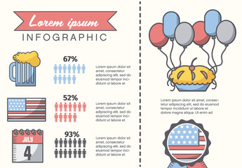 American Summer Holiday Presentation Graphics with Map