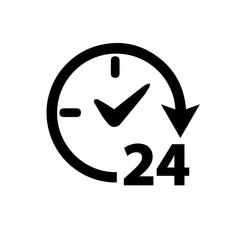 open 24 hours. raster illustration