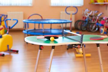 Sports hall in kindergarten.