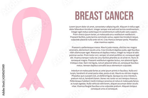 Breast cancer awareness icon  Pink ribbon vector illustration