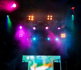 Wall Mural - DJ place on scene at nightclub