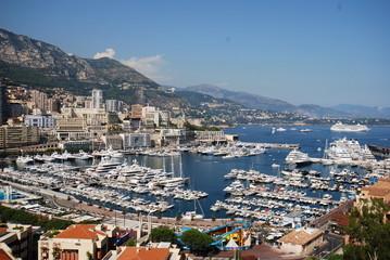 Monte-Carlo; Monte Carlo; marina; sea; city; sky