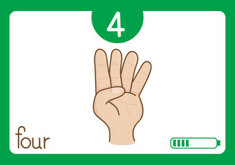 Flashcard number-4