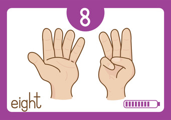 Flashcard number-8