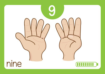 Flashcard number-9