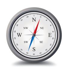 silver compass illustration vector