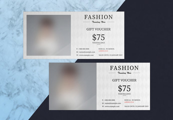 Gift Voucher Layout with Diamond Pattern Background