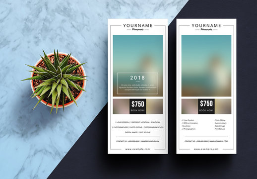 Photography Business Rack Card Layout