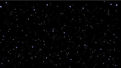 stars sky night vector illustration