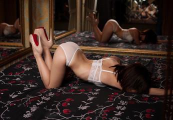 Emo girl mirror panties