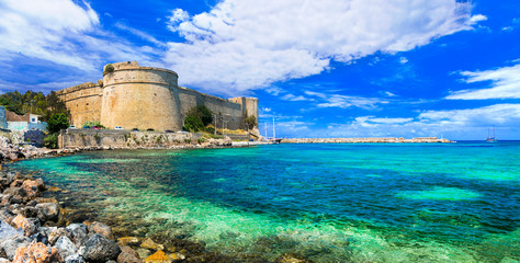 Wall Murals Northern Europe Landmarks of northen Cyprus - medieval venetian castle in Kyrenia