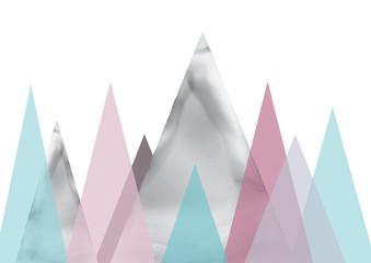 Obraz Scandinavian landscape abstract art - fototapety do salonu