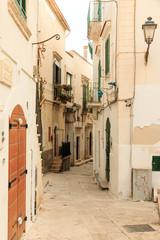 Italy, Foggia, Apulia, SE Italy, Gargano National Park, Vieste. Old city, pedestrian streets.