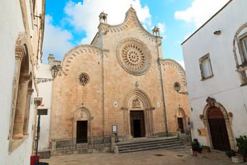 Italy, SE Italy, Brindisi, region of Apulia, Ostuni.  Duomo di Ostuni; Basilica concattedrale di Santa Maria Assunta.