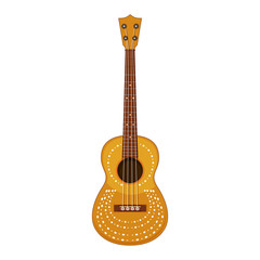 A Classical Guitar on White Background