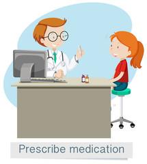 A Doctor Giving Prescribe Medicine