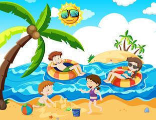 A Family Trip at th Beach