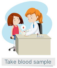 Medical Vector of Taking Blood Sample