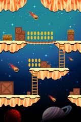 Game Template Dangerous Space Scene