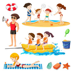 A Beach Set Activity and People