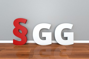 German Law GG abbreviation for Basic Law for the Federal Republic of Germany 3d illustration