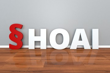 German Law HOAI abbreviation for Regulation on the fees for architect and engineer services 3d illustration