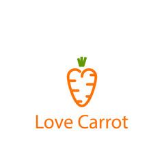 Love Carrot Vector Template Design Illustration